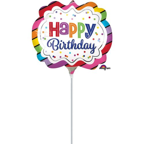 Rainbow Birthday Marquee Mini Shape Flat